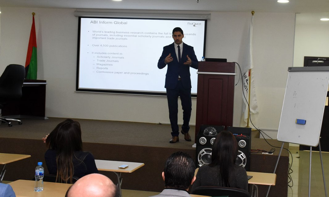 Al Falah University Organizes Training on ProQuest