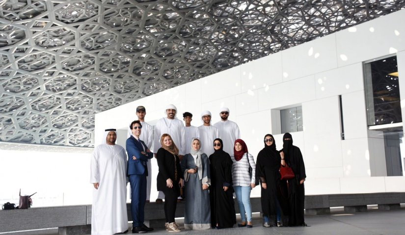 Al Falah University students visit the Louvre Museum in Abu Dhabi