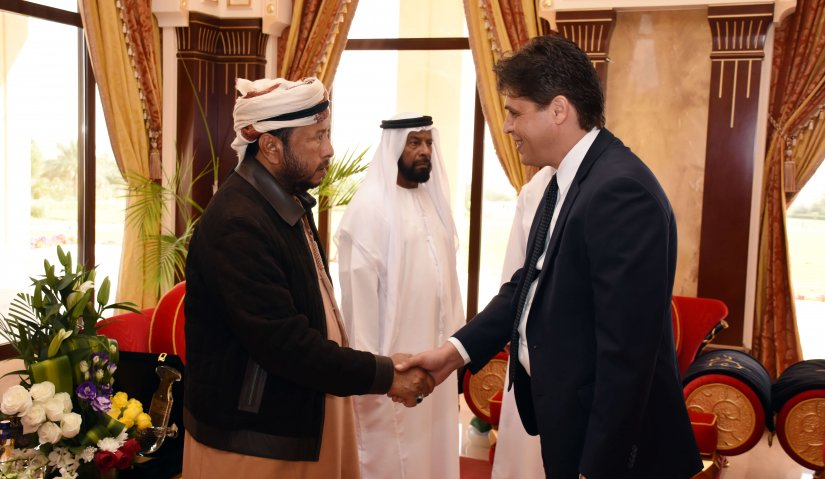 Sheikh Sultan bin Zayed Welcomes Delegation from Al Falah University