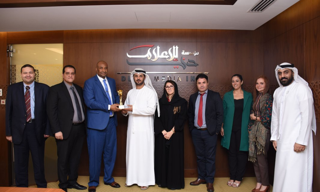 AFU students honor DMI with Dubai as the Capital of Arab Media for 2020